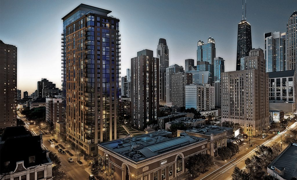 Stunning view of Downtown Chicago