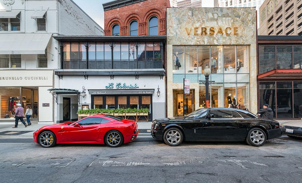 Versace storefront exterior